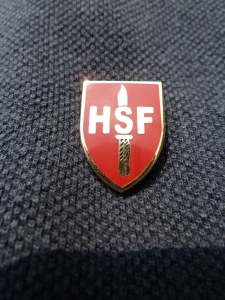 The new HSFA Lapel Badge
