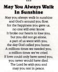 Clive Swatton Funeral Service Sheet poem  184