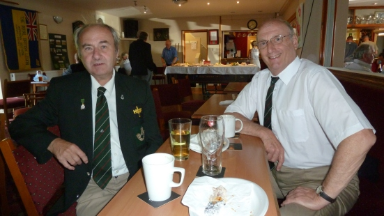 Les Woodley and Don Punnett of Herefordshire HSF Association. Their Light Infantry HSF Platoon was formed in 1982, under No 4 HSF Coy, based in Worcester, but after 1985, them became the only independent HSF Platoon (although administered by 5LI)
